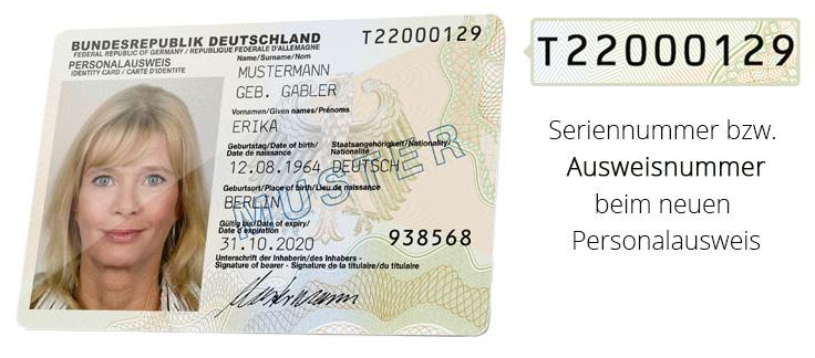 Nummer Personalausweis
